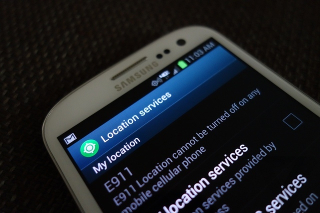 samsung galaxy s iii GPS location services