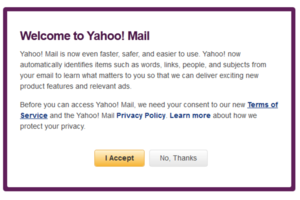 Yahoo Mail Terms of Service