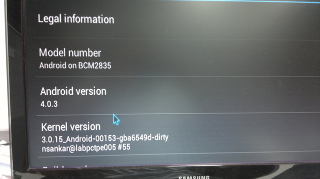 Android 4.0 on Raspberry Pi
