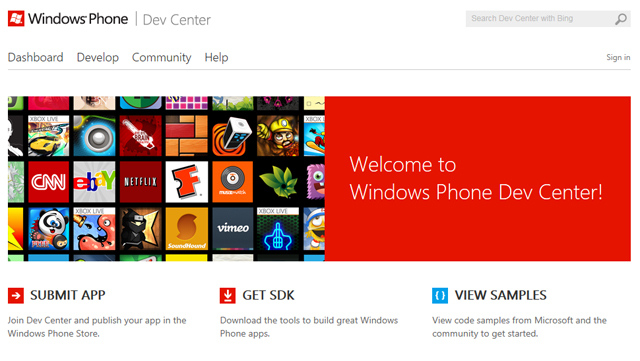 Windows Phone Developer Center