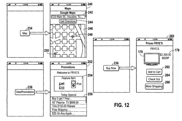 """Apple Patent 2 """"on-the-go shopping lists"""""""