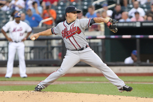 Atlanta got another good performance from Kris Medlen Saturday night in New York.