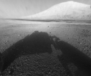 Curiosity Rover B&W Shadow