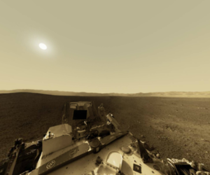 Mars Curiosity 3d view