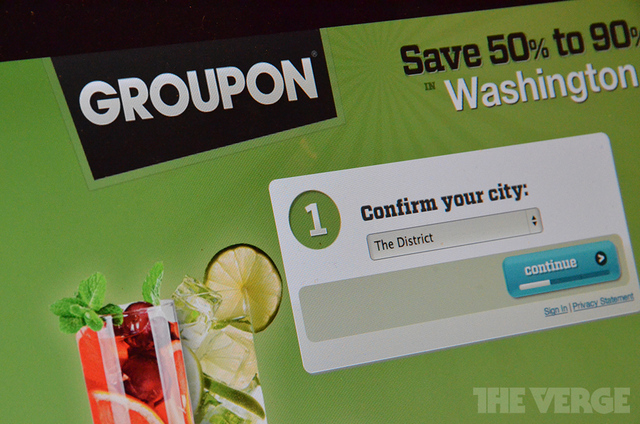 Groupon stock logo