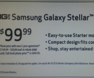 Samsung Galaxy Stellar leaked slide