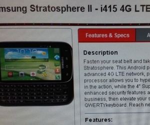 Samsung Stratosphere 2 leak