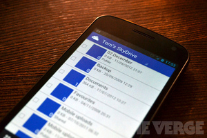 SkyDrive Android stock