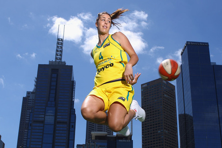 MELBOURNE, AUSTRALIA - DECEMBER 14:  Australian basketball player Jenna O'Hea poses during a portrait session on December 14, 2011 in Melbourne, Australia. Photo by Robert Cianflone/Getty Images.