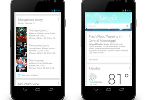 Google Now movie and public alert cards