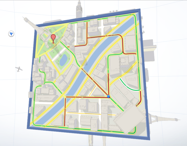 Google Maps Cube screenshot