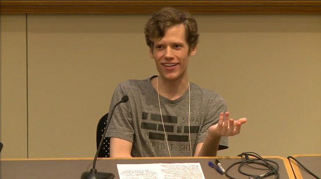 Christopher Poole at ROFLCON panel