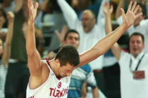 Hedo after a big shot in the FIBA World Chmapionships