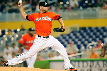 Miami Marlins starter Ricky Nolasco looks to continue his relative success as of late, this time against the New York Mets. (Photo by Jason Arnold/Getty Images)