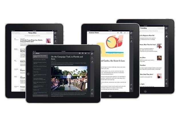 The New York Times iPad web app