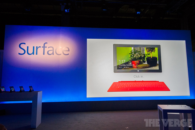 Microsoft Surface nyc launch event stock