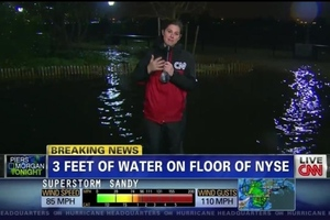 CNN NYSE flood hurricane sandy fake