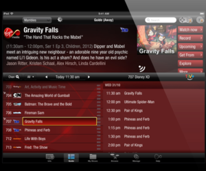 Virgin TV Anywhere on iPad