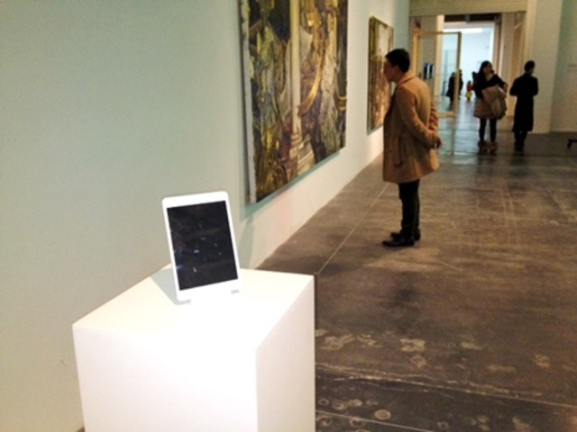 iPad at Chinese art museum (C) New Yorker