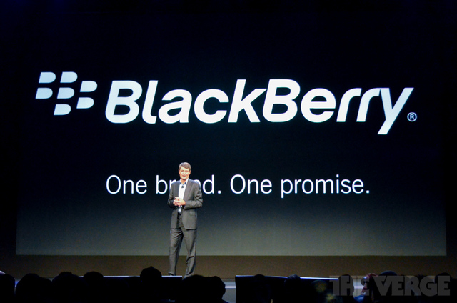 BlackBerry RIM Thorsten Heins one brand