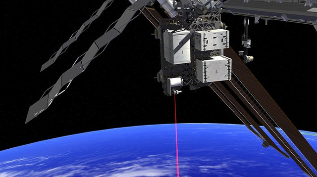 Artist's rendering of NASA OPALS prototype laser communication system.  