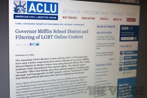 ACLU internet filter