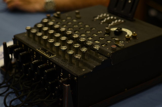 The Enigma machine makes an appearance to help the NSA's recruitment efforts at Def Con