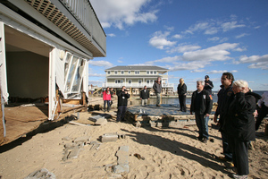 Gov. Cuomo tours Sandy damage on Long Island. Photo via NY Governor's Office on Flickr. 