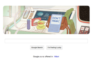 google hitchhikers guide to the galaxy doodle