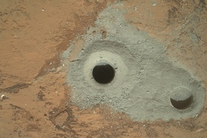mars drill hole