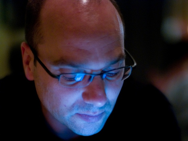 andy rubin eyes down