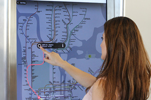 Subway map kiosk