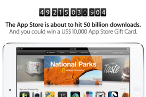 Apple 50 billion app countdown