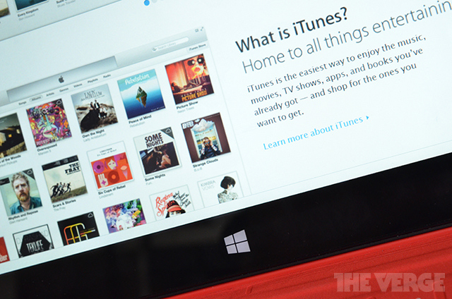 iTunes Windows 8