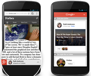 Google+ Mobile Recommendations