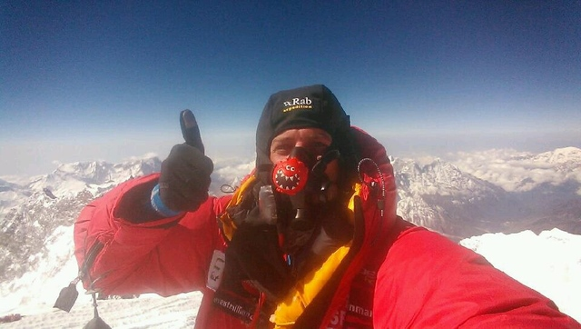 British explorer Daniel Hughes makes first video call from Everest's peak