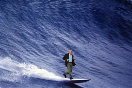 ballmer riding the wave