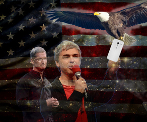 American tech Tim Cook, Larry Page, Moto X, Eagle (Credit: TC Sottek)