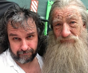 Peter Jackson and Gandalf