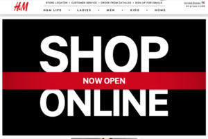 H&M online store screenshot