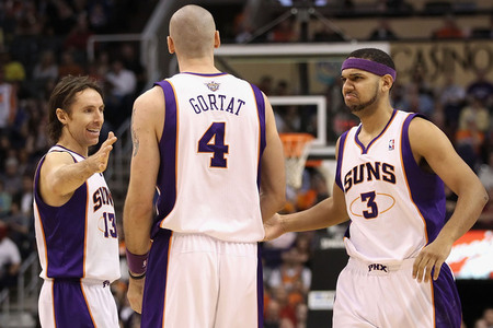 Gortat > Lopez tonight.  (Photo by Christian Petersen/Getty Images)
