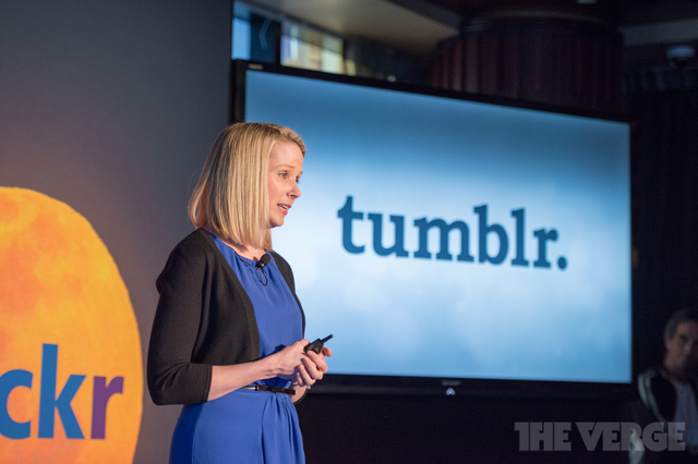 Marissa Mayer Yahoo Tumblr (STOCK)