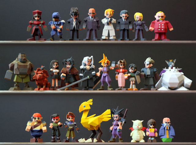 final fantasy vii 3d models