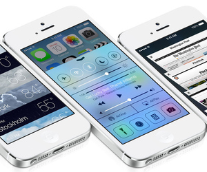iOS 7 Control Center press