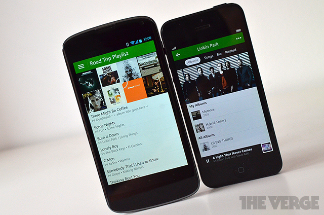 Xbox Music launches on iOS and Android, free streaming on the web