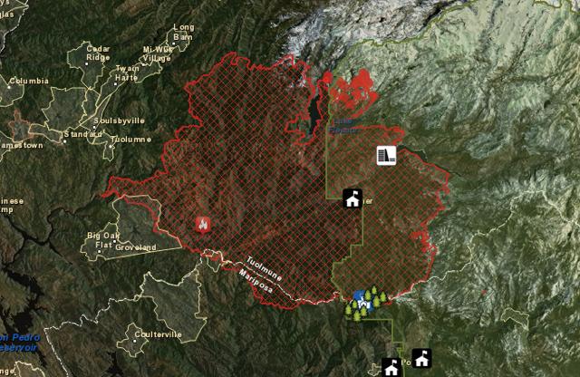 Esri, Rim Fire Map