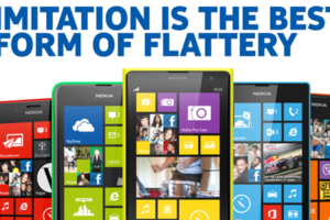 Nokia 'imitation' tweet