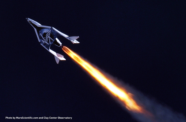 Virgin Galactic hopes its spacecrafts might someday be used for superfast flights across Earth