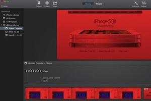 Apple Red iMovie