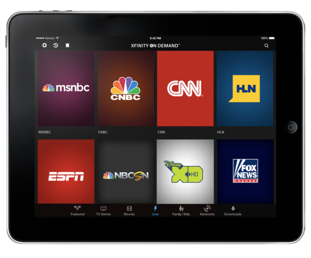 Comcast s xfinity tv go app right away available offers for Mirror xfinity app to tv